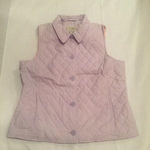 L.L Bean Purple Quilted Outdoor Vest Women Medium